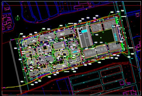 区域建筑总平面CAD图纸下载