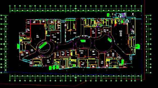 橱窗玻璃墙设计CAD图纸下载
