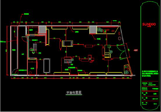 某地金光华店CAD建筑施工图纸下载
