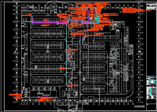 生活广场电力平面CAD图纸下载