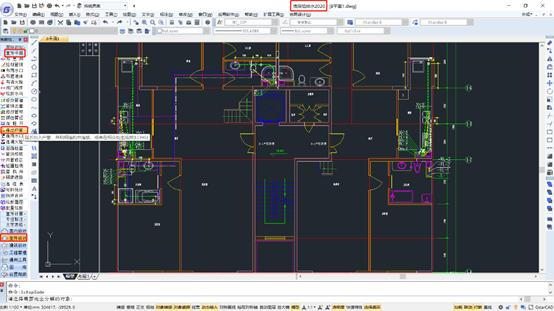 CAD软件中如何连接出户管?