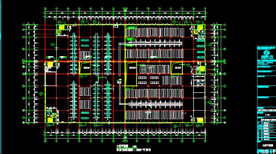 厂房三层平面建筑设计CAD图纸