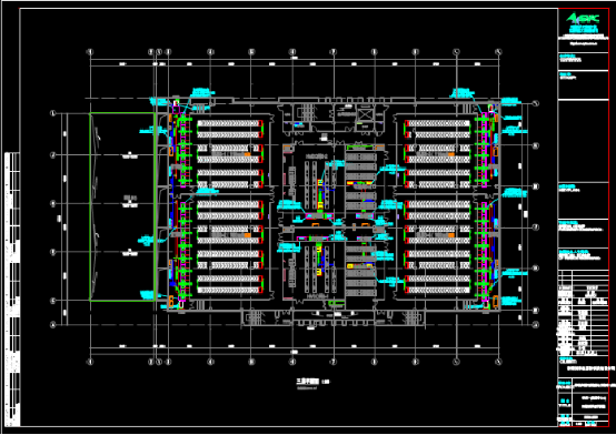 车间三层空调风管CAD暖通图纸下载