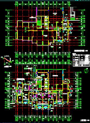 多楼栋建筑设计CAD图纸下载