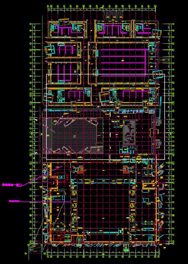 商用一层建筑总平面CAD图纸