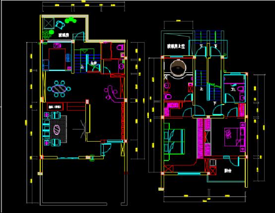 别墅装饰设计CAD图纸下载