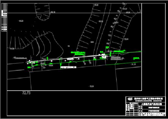 某地桥路燃气管道平面CAD图纸
