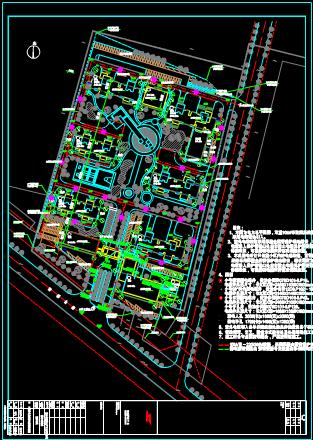 某区域电气外线总图设计CAD图纸