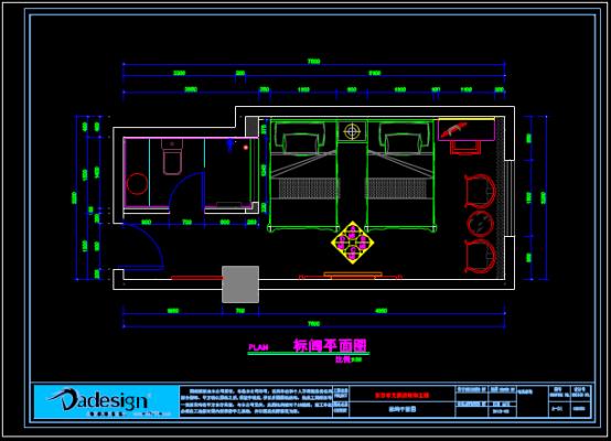 酒店房间装饰设计CAD图纸