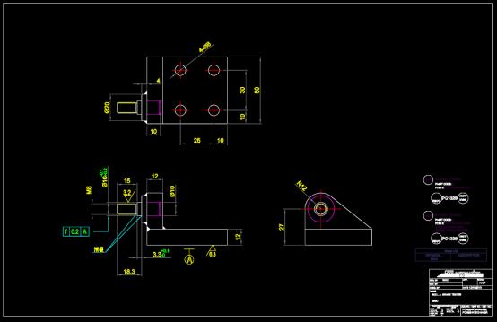 机械零部件练习CAD图纸下载
