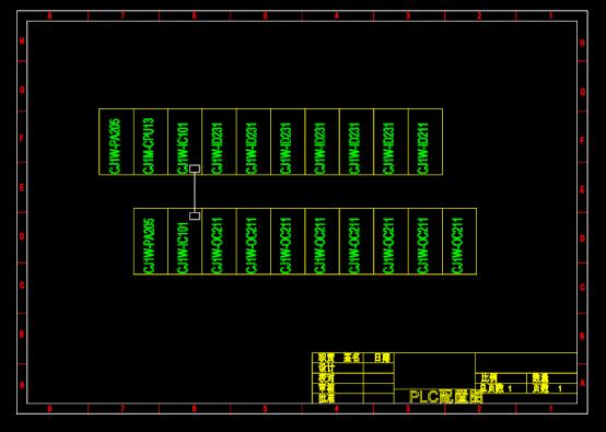 PLC输出回路CAD图纸下载