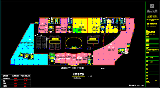购物广场定位CAD设计图纸下载