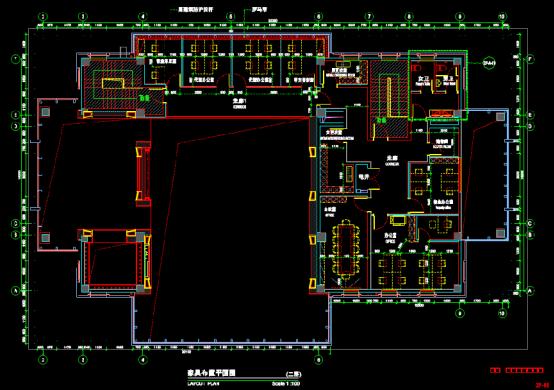 公司室内设计CAD图纸下载