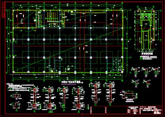 饭店结构设计CAD图纸下载