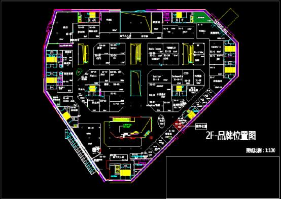 商业购物中心CAD设计图纸查看