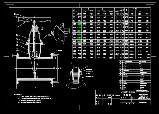 螺盖软密封闸阀CAD设计图纸素材