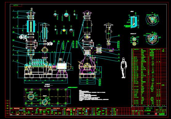 鼓风机总设计CAD图纸下载